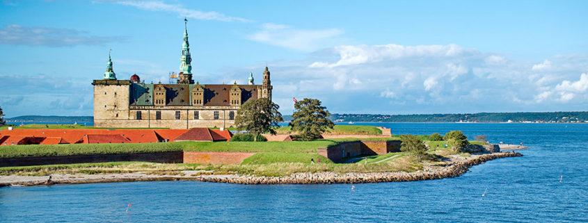 Danemark, forteresse de Konborg sur la presqu'île d'Elseneur